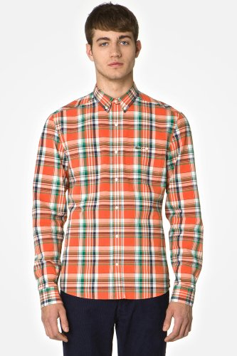 L!VE Long Sleeve Button Down Plaid Woven Shirt