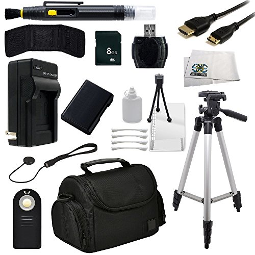 Sse Accessory Package Bundle For The Nikon D3200, D3300, D5100, D5200, D5300 Dslr Cameras - Includes: 8Gb Memory Card, High Speed Card Reader, Mini Hdmi Cable, Extended Life Replacement Battery, Rapid Travel Charger, Tripod, Carrying Case + More