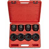 "Neiko® 02392A 3/4"" Jumbo Size Deep Impact Shallow SAE Sockets, 2-1/16 - 21/2-iNCHES 