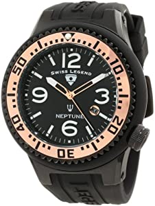 Swiss Legend Men's 21818P-BB-01-RA Neptune Black Dial Silicone Watch