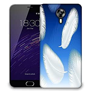 Snoogg feathers vector Designer Protective Back Case Cover For Meizu M2