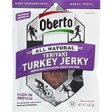 Oberto All Natural Teriyaki Turkey Jerky, 3.25 Ounce Bag (Pack Of 4)