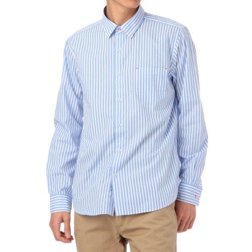 (ボイコット)BOYCOTT カラーストライプシャツ ブルー系(392) 03(L)