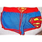 DC Comics SUPERMAN S Logo Booty SHORTS - Size Juniors Medium