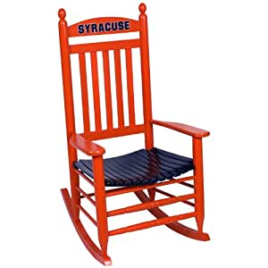 Amazon Syracuse Orange Painted Wood Rocking Chair in