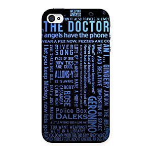 Blue Doc Angel Back Case Cover for iPhone 4 4s
