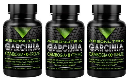 3 Bottles-Absonutrix Garcinia Cambogia 70% Hca 1550Mg Ultra Pure -60Caps Very High Quality