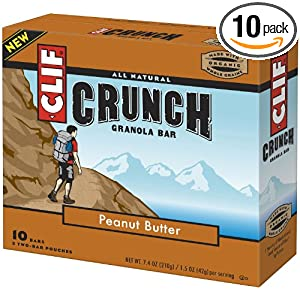 Clif Bar Crunch Bar, Peanut Butter, 10 Count