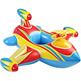 Happy Shoping Cute Inflatable Children Swimming Seat Float Boat , Swim Raft Toys For Kids In The Pool ( Aircraft )