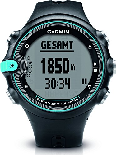 Garmin Swim, Orologio Nuoto, Colore Nero e Celeste