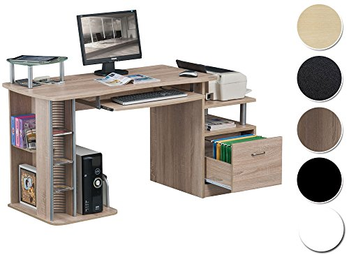 sixbros computerschreibtisch eiche holzoptik s 202a 1845. Black Bedroom Furniture Sets. Home Design Ideas