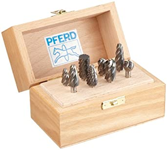 "PFERD 8Piece Clog-Resistant Cut Bur Set With 1/4"" Shank"