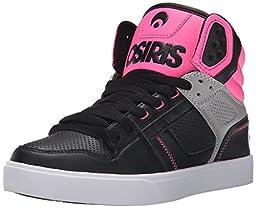 Osiris Women\'s Clone Skate Shoe, Black/Pink, 6 M US