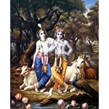 Tallenge - Krishna And Balarama In Vrindavana - A3 Size Rolled Poster
