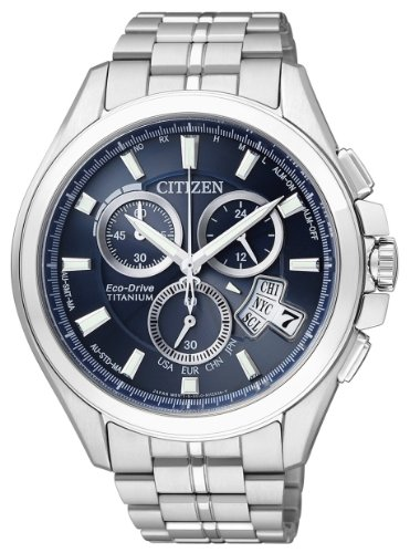 Citizen by 0050-58L Chronographe-Montre à quartz pour homme Bracelet en titane multicolore