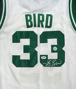 Larry Bird Autographed Boston Celtics White Jersey PSA DNA