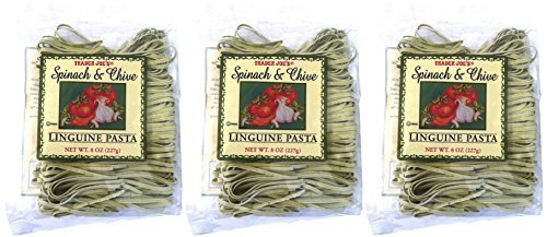 Trader Joe's Spinach and Chive Linguine Pasta - 3 Pack (Trader Joes Black Pepper Sauce compare prices)