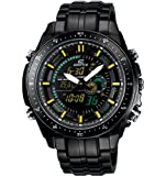 CITIZEN Watch:Casio Edifice Black Label Chrono - Yellow & Green Accents - Bracelet