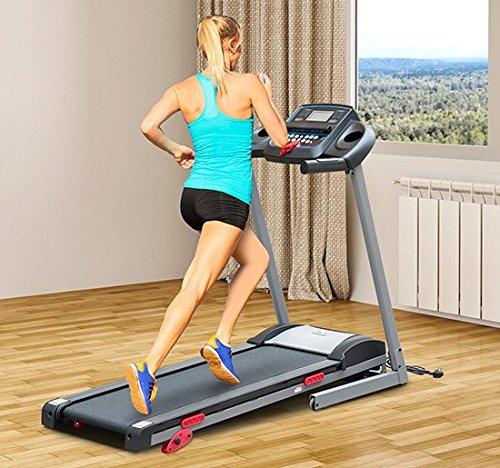 Homcom - Tapis Roulant Professionale Tappeto per Corsa Pieghevole con Schermo LCD e MP3 1.75HP