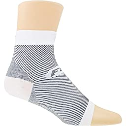 Feetures! Plantar Fasciitis Sleeve Sock - White Large/X-Large