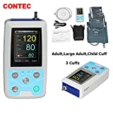 CONTEC Ambulatory Blood Pressure Monitor+Software 24h NIBP Holter 3 Cuffs(Child,Adult,Adult Large) Newest (Tamaño: 3 cuffs(child, adult, adult large))