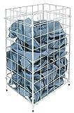 racon m-waste Abfallkorb Papierkorb Sammelkorb Metall weiß - ca. 30