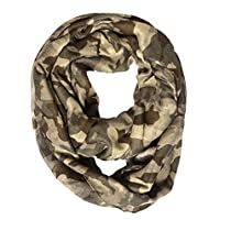 Oversize Camouflage Infinity Scarf Green and Brown Color