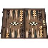 UBER Games Walnut Backgammon Set, Green