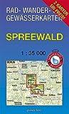 """Rad-, Wander- und Gewässerkarten-Set: Spreewald: Mit den Karten: """"Oberspreewald"""" und """"Unterspreewald"""". Maßstab 1:35.000. Wasser- und reißfeste Karten."""