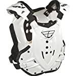 Fly Racing Stingray Adult Roost Guard MotoX/Off-Road/Dirt Bike Motorcycle Body Armor - White / One Size