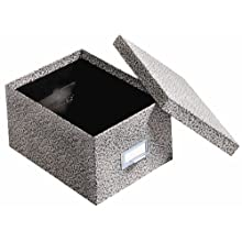 Globe-Weis Fiberboard Index Card Storage Box, 5 x 8 Inches, Black Agate (95 BLA)