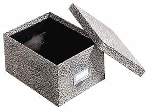 Globe-Weis Fiberboard Index Card Storage Box, 5 x 8 Inches, Black Agate (95 BLA)