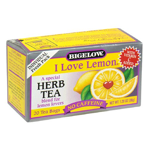 Buy Bigelow I Love Lemon Herbal Tea, Tea Bags, 20-Count Boxes (Pack of 12) (Bigelow, Health & Personal Care, Products, Food & Snacks, Beverages, Tea, Herbal Teas)