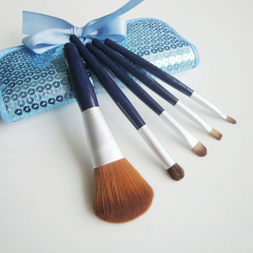 Mini 5 Makeup Brush Set And Case- Premium Collection, Mother Day's Gift, Graduation gift idea