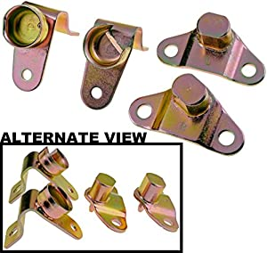 APDTY 49753 Tailgate Hinges Set Of 4 - Rear Left and Right - Includes Bed and Gate Side Hinges For 1999-2006 Chevy Silverado / 1999-2006 GMC Sierra / 2005-2006 Hummer H2 / 2006 Hummer H1 (Replaces 15074252,15074253,15078745,15078746)