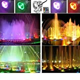 VicTsing 10W 12V RGB Multi-color IP68 Waterproof LED Underwater Light Landscape Fountain Pond Pool Lamp Bulb with IR Remote Control