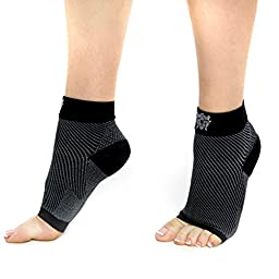 Bitly Plantar Fasciitis Socks (1 Pair) Premium Ankle Support foot Compression Socks (Large)
