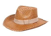 Women Western Style Cowboy Hat with Beige Band - Cool Summer Caps