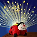 KIDS CUDDLY PET PILLOW CUSHION WITH NIGHT LIGHTS ANIMAL CUDDLE TOY LADYBIRD NEW