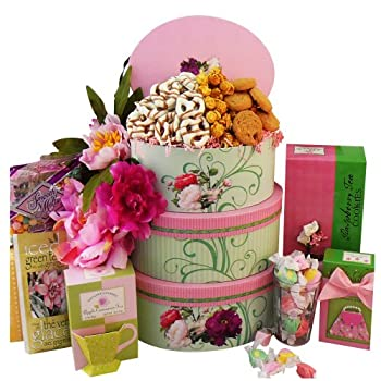 Set A Shopping Price Drop Alert For Art of Appreciation Gift Baskets   Fanciful Flavors Gourmet Tea and Snacks Tower