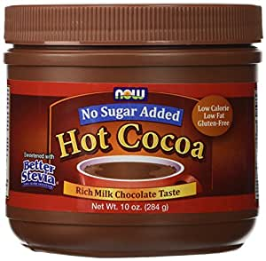 Now Foods Hot Cocoa Sweetened with Better Stevia - 10 oz