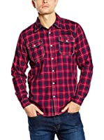 Lonsdale Camisa Hombre St. Just (Rojo / Azul)
