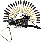 Crossbow Pistol with Bolt Rack Self-Cocking 80 LBS by KingsArchery® with Adjustable Sights and a Total of 27 Aluminim Arrow Bolt Set + KingsArchery® Warranty