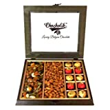 Chocholik Belgium Chocolates - Heavenly Treat Of Almonds, Cashew, Raisin Box With Chocolate Surprising Box - Gifts...