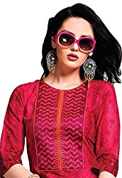 Jcm Red Printed Cotton Cambric Kurti With L Size