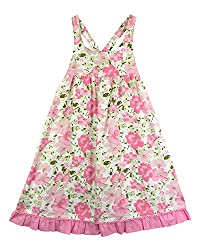 SSMITN Girls' Dress(SK2217_2-3Y, Pink, 2-3Y)