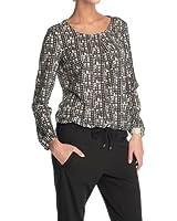 ESPRIT Damen Bluse 123EE1F025, Rundhals, gepunktet