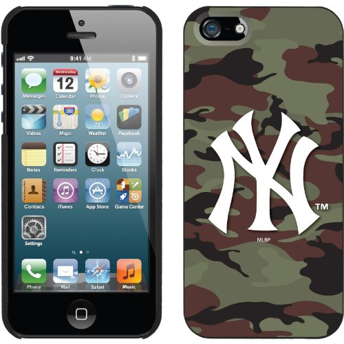 Best Price New York Yankees - Traditional Camo design on a Black iPhone 5 Thinshield Snap-On Case by Coveroo