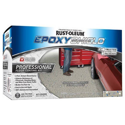 Rust-Oleum 203373 Professional Floor Coating Kit, Silver Gray - 2 Pack (Epoxy Floor Cleaner compare prices)