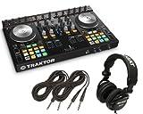 Native Instruments Traktor Kontrol S4 MK2 DJ Controller + Tascam DJ Headphone TH02 + (2) 1/4 cables 18ft ea
